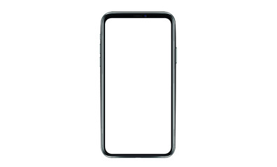 Smartphone with a blank screen lying on a flat surface. High Resolution Vector illustration of responsive web design ,app, template site,The shape of a modern mobile phone Designed New black frameless Fotobehang