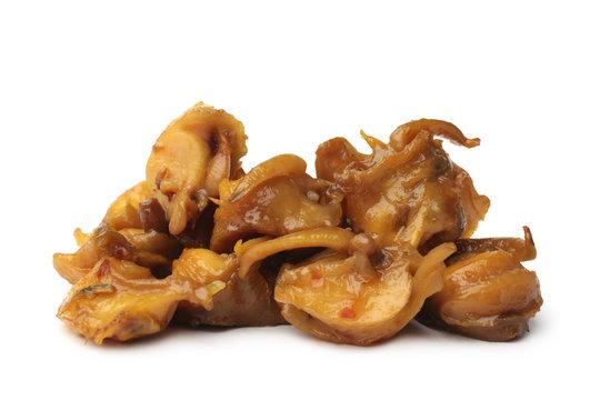 Fried rapana meat