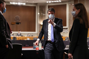 Justin Walker departs after Senate Judiciary Committee hearing on his nomination to be DC Circuit judge on Capitol Hill in Washington