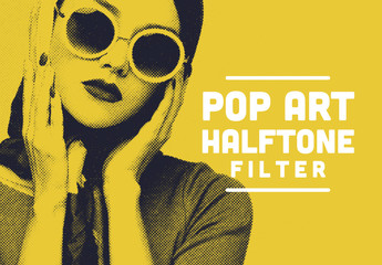 Pop Art Retro Print Effect Mockup
