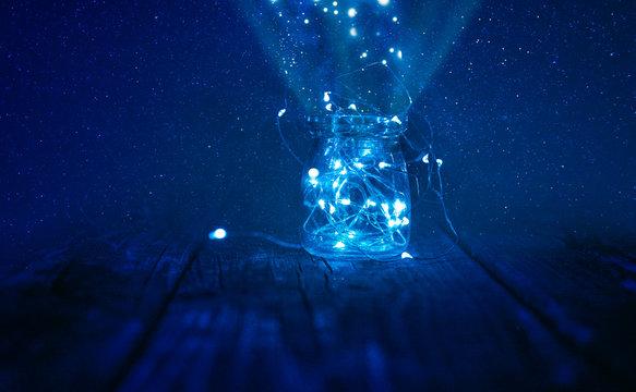 Magical Summer Jar Full Of Star Lights