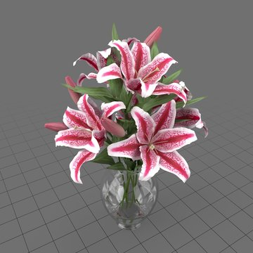 Lily bouquet with vase