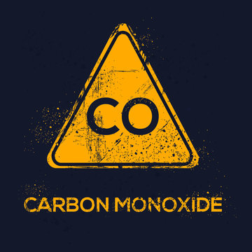 Warning sign (carbon monoxide), vector illustration.