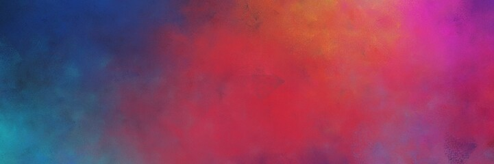 beautiful abstract painting background graphic with moderate red, dark slate gray and old mauve colors and space for text or image. can be used as horizontal background texture Fototapete