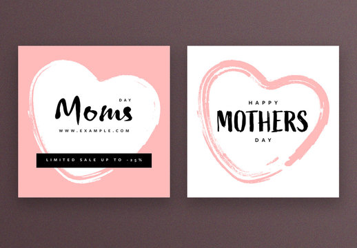 Square Social Media Post Layouts for Mother's Day