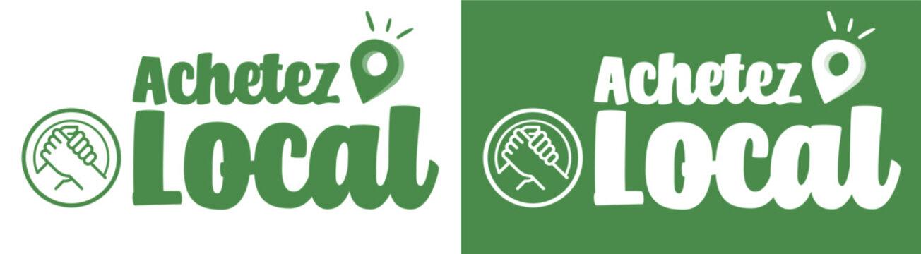 Achetez local - logo / label / autocollant