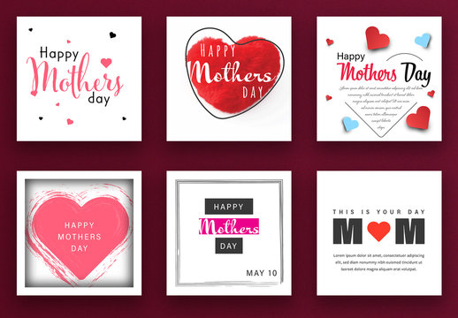 Mother's Day Social Media Post Layout Kit