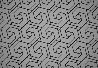 Fotorolgordijn Geometrisch The geometric pattern with lines. Seamless vector background. Black and grey texture. Graphic modern pattern. Simple lattice graphic design