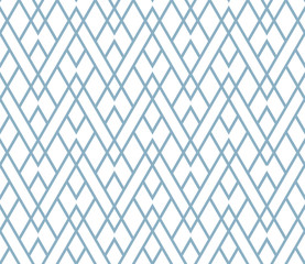 Fotorolgordijn Geometrisch The geometric pattern with lines. Seamless vector background. White and blue texture. Graphic modern pattern. Simple lattice graphic design