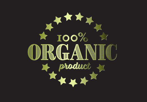Pure Organic Product Badge Layout