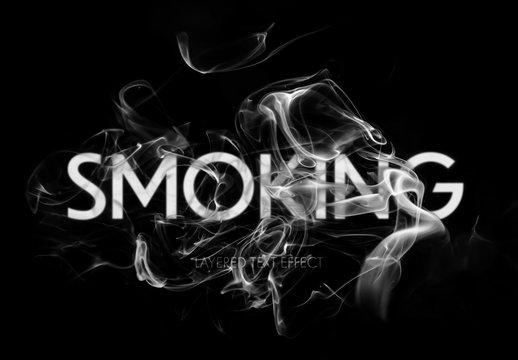 Smoking Text Effect