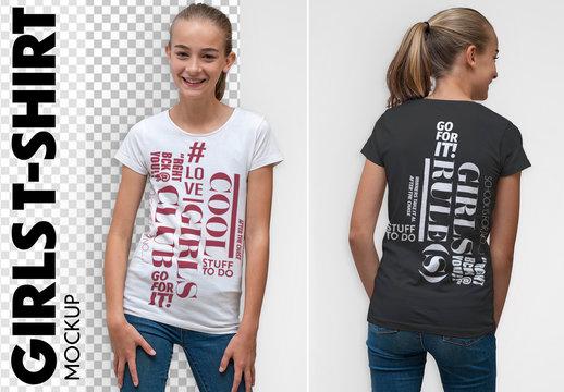 Girl's T-Shirt Mockup
