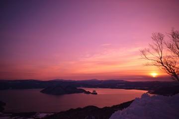 Fototapeten Rosa Lovey Scenic View Of Sea Against Sky During Sunset
