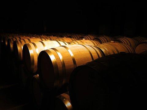 Wine Cellars Arranged In Warehouse