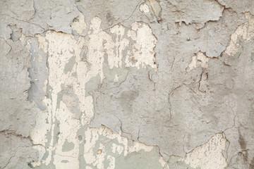 Foto auf AluDibond Alte schmutzig texturierte wand crack in plaster трещина в штукатурке старая штукатурка