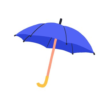 Cartoon colorful umbrella vector graphic illustration