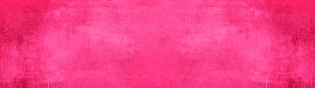 Pink magenta stone concrete paper texture background panorama banner long, with space for text