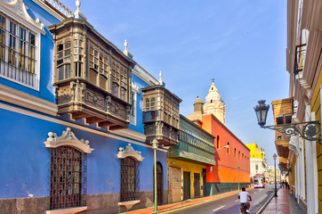 Wall Mural - Lima, Peru : Colonial center, HDR Image