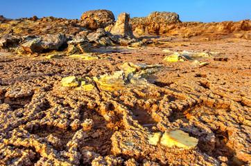 Dallol landscape, Danakil desert, Ethiopia