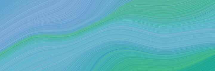 liquid decorative waves background with medium aqua marine, medium sea green and light sea green colors Wall mural