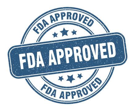 fda approved stamp. fda approved label. round grunge sign