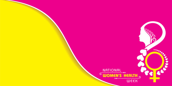 illustration of National Women's health week begins on Mother's Day each year.