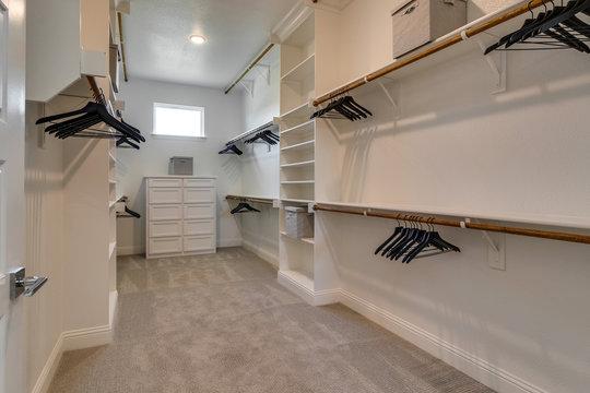 Large modern master closet