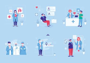 Medical Graphics Illustration Set Art Kit
