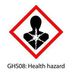 Health hazard sign (GHS08), GHS pictograms Globally Harmonized System of Classification and Labelling of Chemicals (GHS) Vector Label