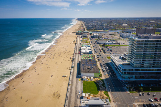 Aerial of Asbury Park NJ During Covid19 Pandemic