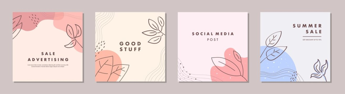 Sale square banner template for social media posts, mobile apps, banners design and web/internet ads. Trendy abstract square template with colorful concept.