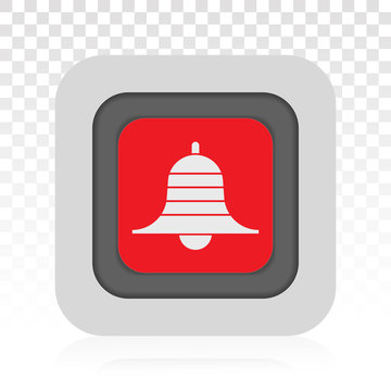 Youtube message notification bell flat icon for apps or websites