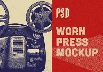 Vintage Press Effect Mockup