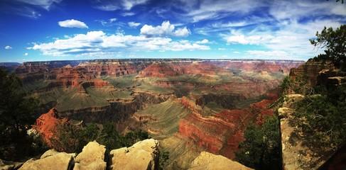 Photo sur Aluminium Arizona Panoramic View Of Landscape Against Cloudy Sky