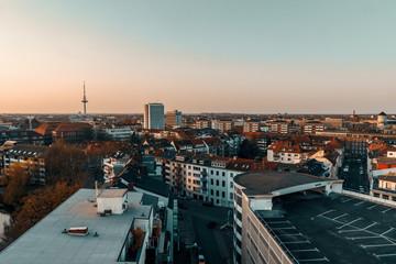 Poster de jardin Paris sunset in Bremen Germany