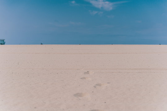 desert with blue sky in California