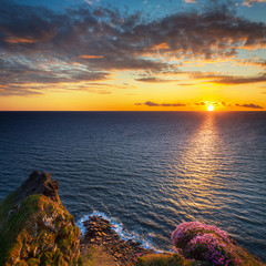 Fototapete - Amazing Cliffs of Moher at sunset in Ireland, County Clare.