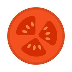 Fototapeta Isolated tomato cut icon obraz