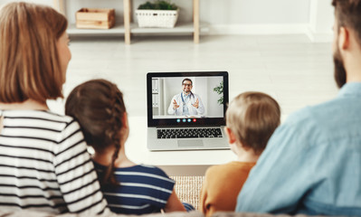 Video conference video chat with a doctor online.
