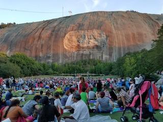 Crowd Against Stone Mountain