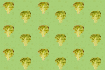 modern bright pop art, texture, lettuce seamless pattern, concept of healthy eating, dieting, snacking at work, at school, student fast food