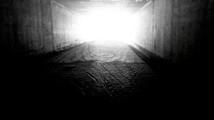 Interior Of Illuminated Tunnel - fototapety na wymiar