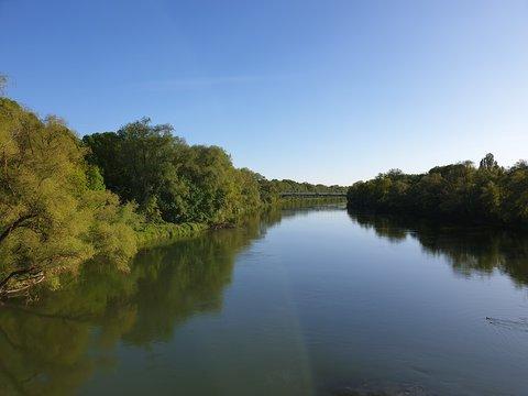 Fluss Donau in Ingolstadt Bayern