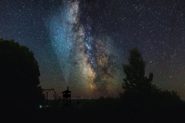 starry night time lapse Fotomurales