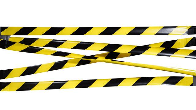 Do Not Cross criminal area yellow black warning