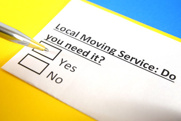 One person is answering question about local moving service.
