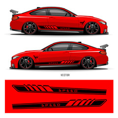 Car graphic vector. abstract lines with gray background design for vehicle vinyl wrap_20200322