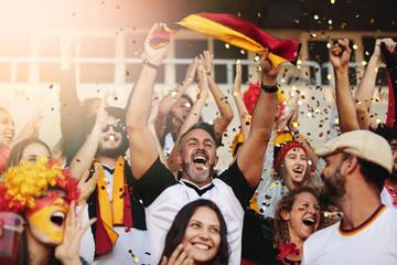 German soccer fan cheering their national team