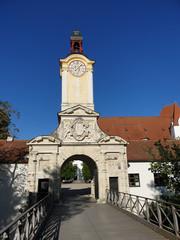 Eingang Neues Schloss in Ingolstadt, Bayern