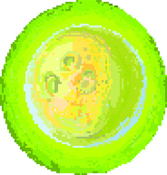 PIxel moon on the abstract yellow background